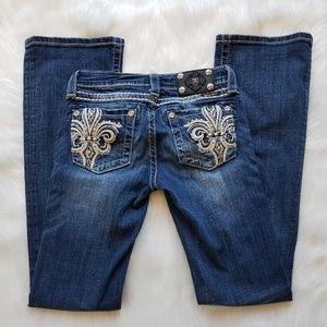 Miss Me Girls Boot Fleur de Lis Embellished Jeans